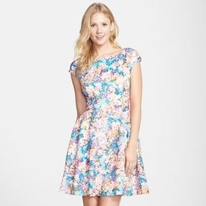 Betsey Johnson laser cut floral scuba dress
